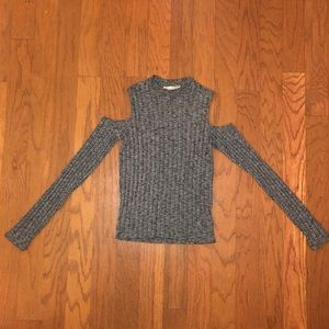 Express One Eleven Cold Shoulder Sweater